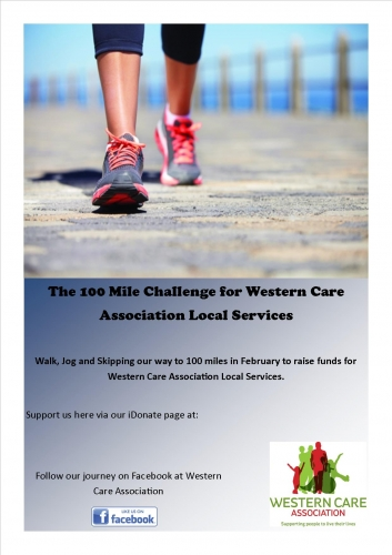 100 Mile Challenge for Western Care Association Local Services