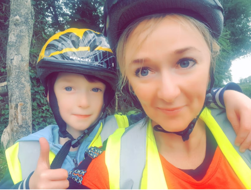 Angela Ryan Whyte & JJ Whyte cycling together..for a better future