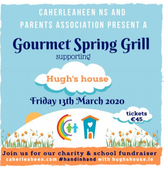 Caherleaheen Parents Association Gourmet Spring Grill supporting Hugh's House