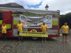 Frontline heroes raise €8,500 after walking 275 km for charity