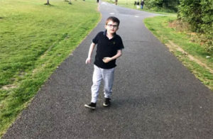 'Up For It' Young wheelchair-user aiming to set personal best by walking kilometre