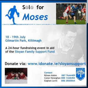 Solo for Moses Fundraising event in support of Darragh Sloyan's Family