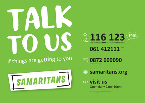 Samaritans kicks off July with 'Talk to Us'