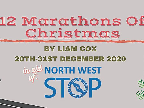 "Leitrim runner to run ""12 Marathons of Christmas"" in aid of North West Stop"